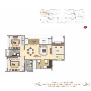 Prestige-MSR-Type-E1-Floor-plan