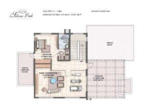 villa-type-c1-4-bed-second-floor-plan-min