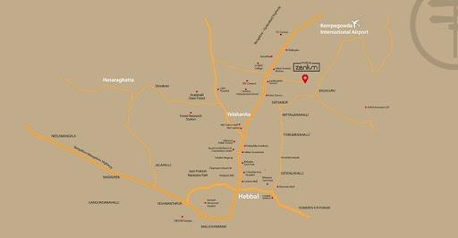 Purva Zenium Location Map