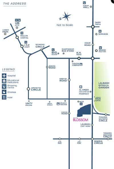Mantri Blossom Location Map