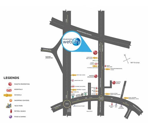 Mantri Webcity Location Map