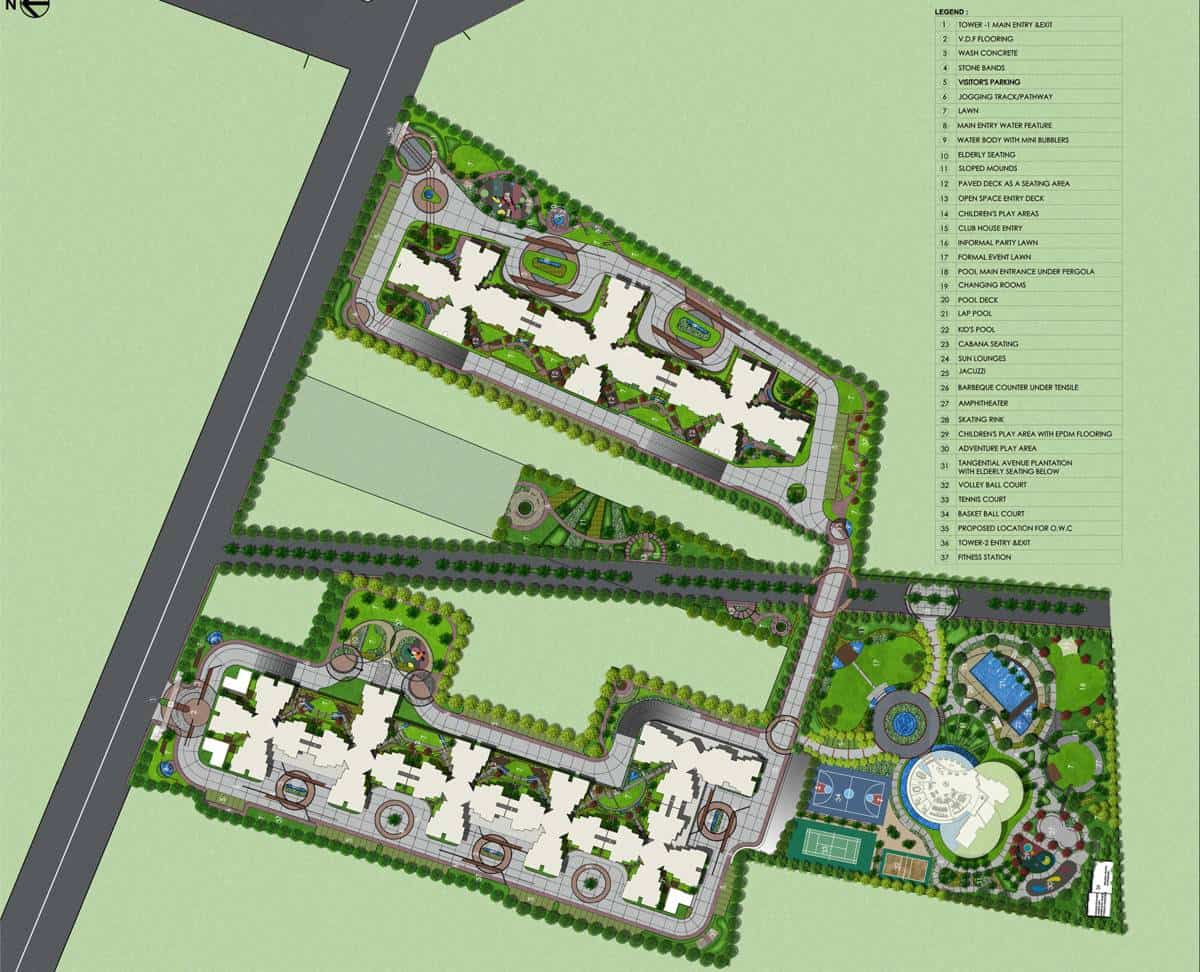 Shriram Greenfield O2 Homes Master Plan