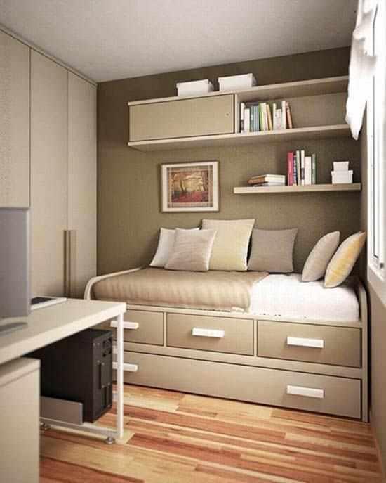 Storage-Oriented Small Bedroom Design Ideas
